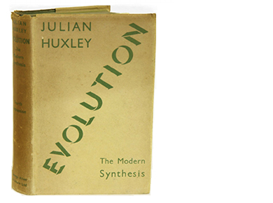 Dust cover of Julian's Huxley's 'Evolution'