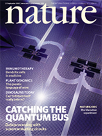 Nature journal front cover