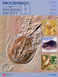 Proceedings of the Royal Society B front cover