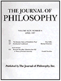 The Journal of Philosophy front cover