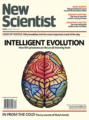 New Scientist magazine front cover
