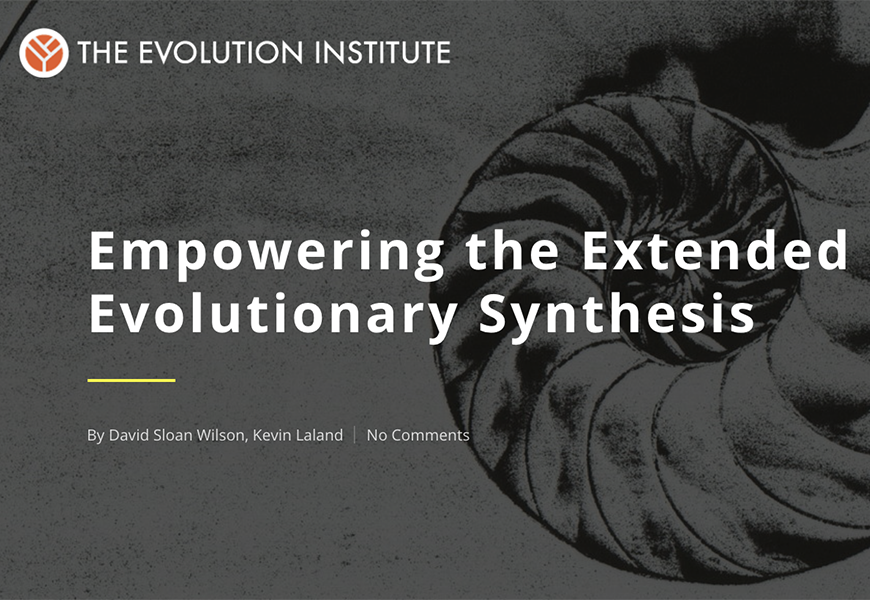 Empowering the Extended Evolutionary Synthesis thumbnail