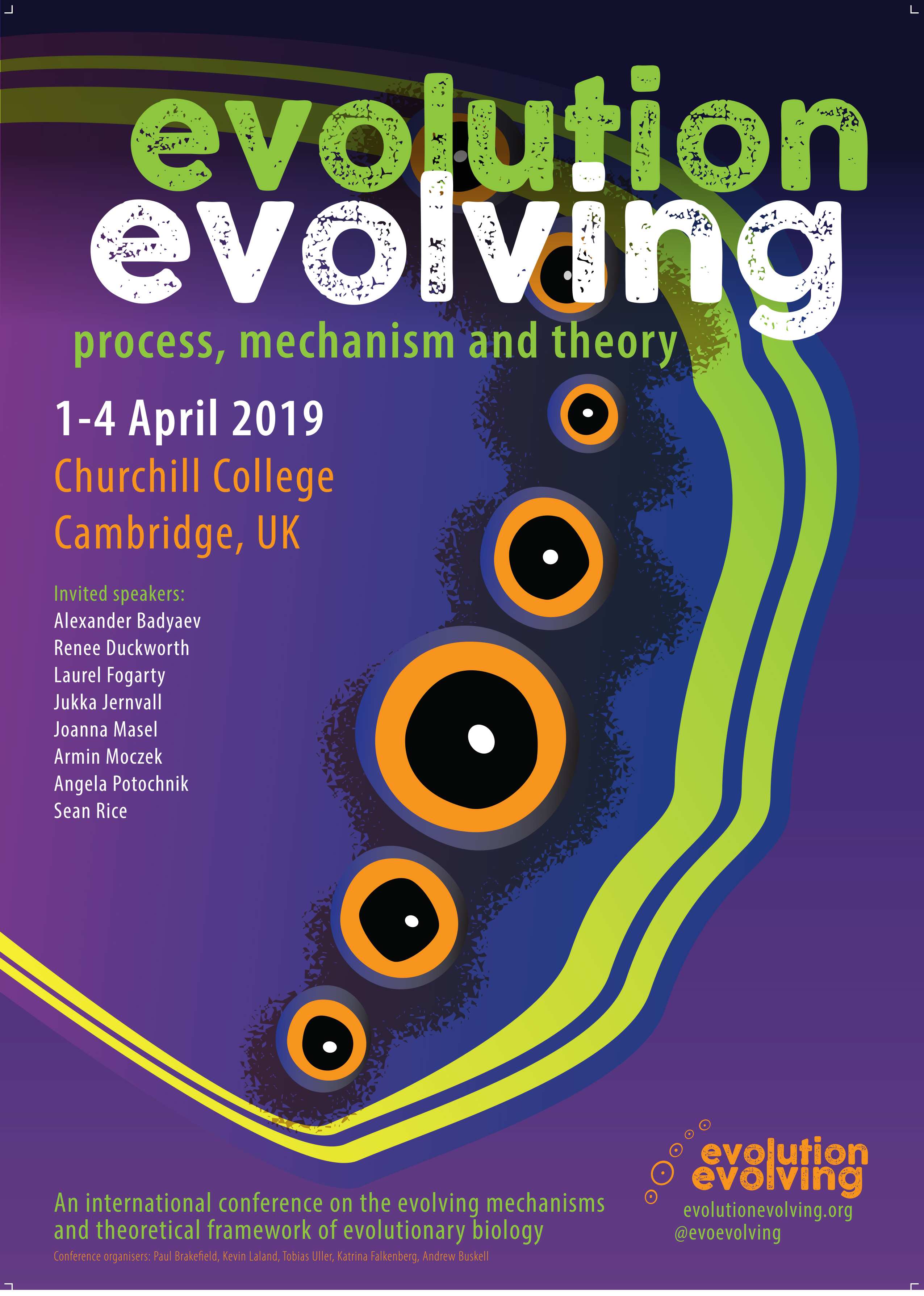 Evolution Evolving conference poster