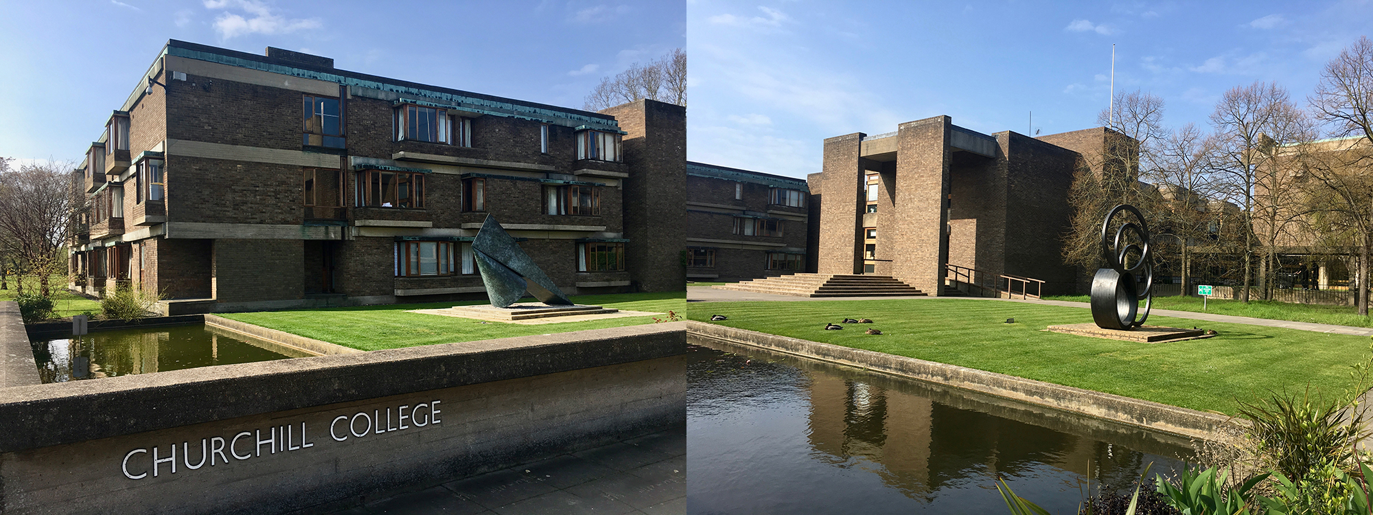 Churchill College external architecture